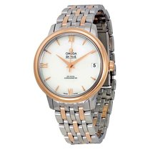 Omega DeVille Prestige MOP Diamond Dial Ladies Watch 424.20.33...