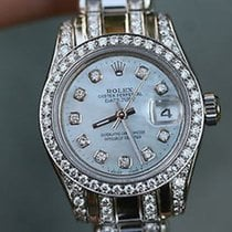 Rolex 26mm Steel 179160 Datejust Diamond Band 4 18k White Gold...