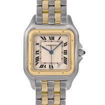 Cartier Gents Panthere in Steel & Gold (2 Rows), Ref: 187949