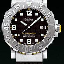 Paul Picot C-TYPE classic steel rubber black 411720563BN