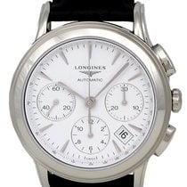 Longines Flagship Automatic Chronograph Steel Mens Strap Watch...