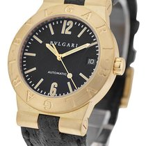 Bulgari LCV35GLD/SLN Diagono 35mm Automatic in Yellow Gold -...