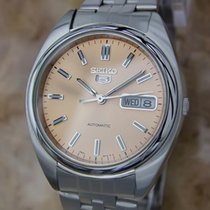 Seiko 5 Automatic 1980s Made In Japan Mens 37mm Stainless...