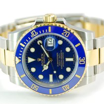 Rolex Submariner Date Two Tone 18kt YG/SS Blue Dial-116613