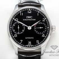 IWC Portugieser 7 Tage Edelstahl Leder Automatik IW 5001