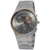 Skagen Chronograph Grey Dial Silver Titanium Men's Watch...