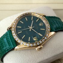 Rolex Oyster Datejust Vintage Lady Watch Yellow Gold Diamonds...