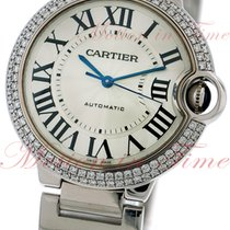 Cartier Ballon Bleu Medium Automatic, Silver Dial, Diamond...