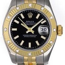 Rolex Ladies Datejust 2-Tone Steel & Gold Diamond Watch...