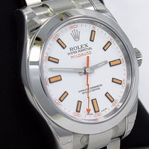 Rolex Milgauss 116400 Oyster Perpetual White Dial Staibless Steel