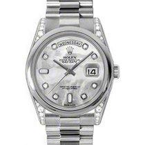 Ρολεξ (Rolex) Day-Date 36 118296-MOPDDP White Mother of Pearl...