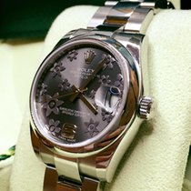 Rolex Datejust 31mm Dial Rhodium Floral