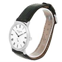 Patek Philippe Calatrava 18k White Gold Watch 5119g