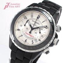 Chanel J12 Superleggera Chronograph Edelstahl und schwarze...