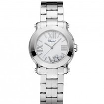Chopard 278509-3002 Happy Sport 30mm Diamonds Steel Lady