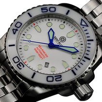 Deep Blue Sea Ram 500 Auto Diving Watch Wr 500m Wht/blu Bezel...