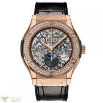 Hublot Classic Fusion 45 mm Moonphase King Gold Diamonds...