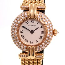 Cartier Rivoli Ladies watch 18K Gold with Diamond Bezel
