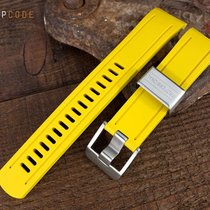 Crafter Blue Watch Band for Seiko SKX007, Yellow