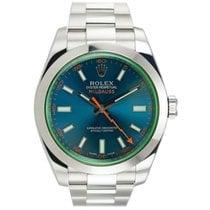 ロレックス (Rolex) MILGAUSS 116400GV GREEN CRYSTAL BLUE DIAL...