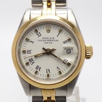 Rolex Oyster Perpetual Lady Date Gold Steel NEW REVISION WARRANTY