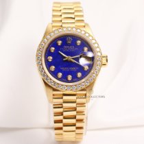 Rolex Lady DateJust 69138 Lapis Lazuli Diamond 18K Yellow Gold
