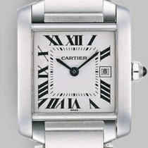 Cartier Tank Francaise Stainless Steel Medium Quartz with Date...
