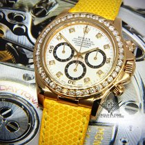 Rolex Zenith Daytona Chronograph 18k Yellow Gold Diamond...