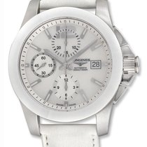 Longines Conquest Automatic Chronograph Steal Ceramic Mens...