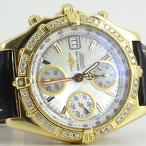 Breitling Chronomat 18k mop dial diamond bezel and deployment...