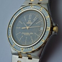 Omega unpolished Seamaster 120m vintage solid gold steel
