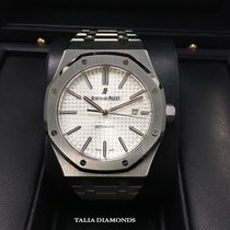 Audemars Piguet Royal Oak White Dial Steel 41mm 15400ST.OO.122...