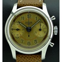 Heuer   Vintage Chronograph Stainless Steel, Two Tone Dial,...