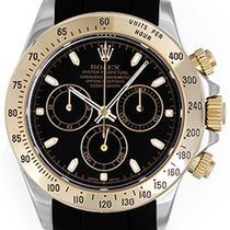 Rolex Daytona Steel & Gold 2-Tone Men's Watch Black...