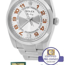 Rolex Oyster Perpetual Air-King 34mm Silver Concentric 114200