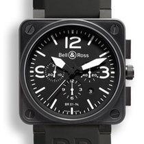 Bell & Ross BR01-94-CARBON Black Dial White Numbers, B&P