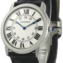Cartier Ronde Solo de Cartier Men's Black Leather Watch...