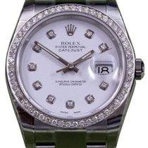 Rolex Datejust 116200 Men's 36mm Matte White Diamond Bezel...