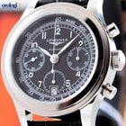 Longines Men's Heritage 1942 Chronograph Steel on Leather...