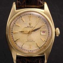 Rolex Date just Ovettone ref 6105 18k yellow gold