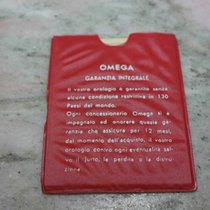 Omega vintage red plastic wallet for warranty booklet