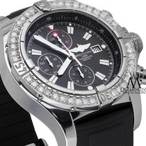 Breitling Super Avenger Men's 48mm Chronograph Black Dial...