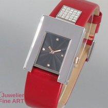 Pomellato Stress   Edelstahl/Leder - Quarz - Diamantbesatz