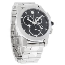 Movado Vizio Mens Carbon Dial Swiss Quartz Chronograph Watch...