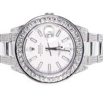 Rolex Custom Mens New 41 MM White Rolex DateJust II 2 With...