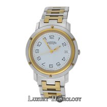 Hermès Authentic Men's  Clipper CL6.720 Solid 18K Gold...