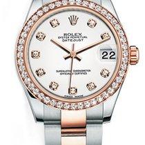 Rolex New Style Datejust Midsize Two Tone Custom Diamond Bezel...