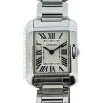 Cartier stainless steel ladies Tank Anglaise