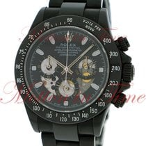 Rolex Cosmograph Daytona, Black Skeleton Dial - Black PVD on...