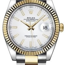 Rolex Datejust 41mm Steel and Yellow Gold 126333 White Index...